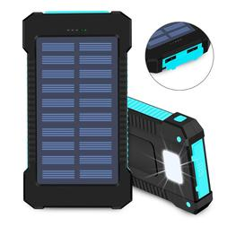 10000 mAh Waterproof USB Portable Solar Battery Pack Charger