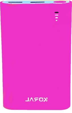 Koral 10050mAh Portable Power Bank  Pink For Iphone & Androi
