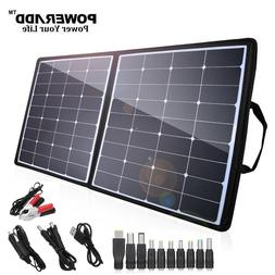 Poweradd 100W 12V 18V Foldable Solar Panel Battery Charger f
