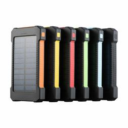 12000 mAh Dual USB Portable Solar Battery Charger Power Bank