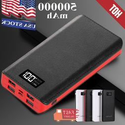 2.1A Fast Charger Portable LCD LED Power Bank 500000mAh 4USB