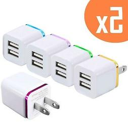 2-Port 2.1A USB Wall Charger  ML Dual Portable Travel Power