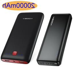 Aibocn 20000mAh Mobile Power Bank Cell Phone Tablets Dual US