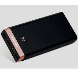 20000mAh QC 3.0 Power Bank  Portable LCD Fast Battery Charge