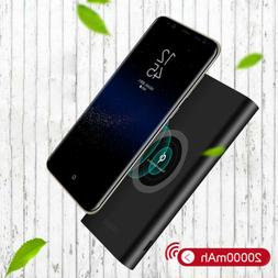 20000mAh Qi Wireless Power Bank Portable Battery Charger For