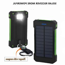 2019 Solar Power Bank 20000mAh Double USB Solar <font><b>cha