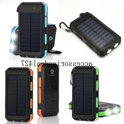 2020 Waterproof 900000mAh Dual USB Portable Solar Charger Po