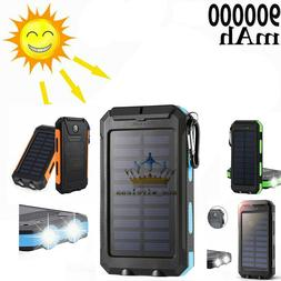 2020 Waterproof Solar Power Bank 900000mAh Portable External