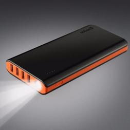 EasyAcc 26000mAh 2 Inputs 4A Power Bank 4-Port Camp Travel P