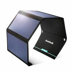 Nekteck 28W Portable Solar Panel Charger, Waterproof Camping