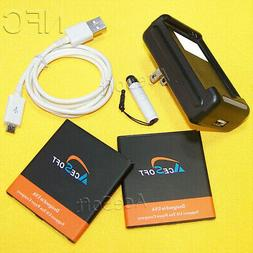 AceSoft 2x NFC Battery Portable Charger Cable Pen for Samsun