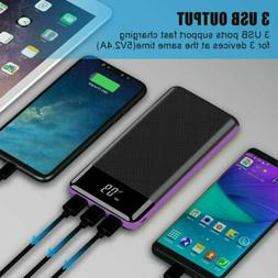 500000mAh 3USB Portable External Battery Charger Solar Power