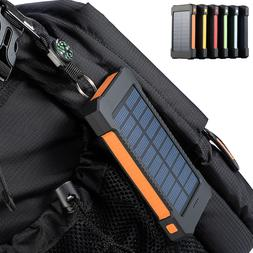 300000mah dual usb portable solar battery charger