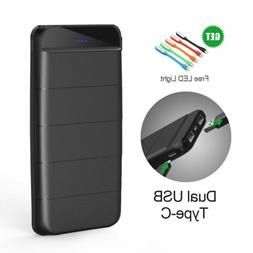 300000mAh Portable Power Bank Battery Charger Dual USB LED T