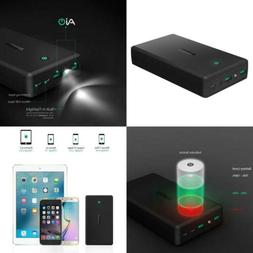 AUKEY 30000mAh Power Bank, Portable Charge with 4.8A Dual-US