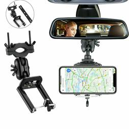 360° Car Rear View Mirror Mount Stand Holder Cradle Univers