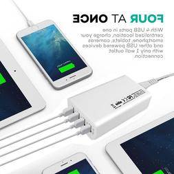 4-Ports USB Portable Home Travel Wall Charger US Plug AC Pow