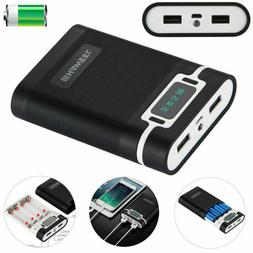 4 x 18650 Charger Box Power Bank Case With 2 USB Port And Po