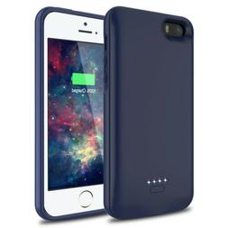 4000mA F iPhone 5 5S SE Battery Case Slim Charger Cover Port