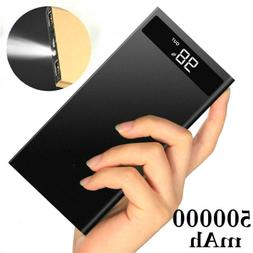 500000mAh Greenest Metal Slim LCD LED Portable Power Bank 2