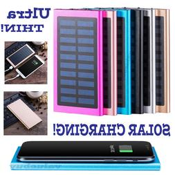 500000mAh Slim 2 USB Portable Battery Charger Solar Power Ba