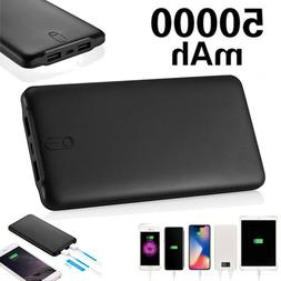 50000mAh 2 USB Port Power Bank Backup Portable Quick Charger
