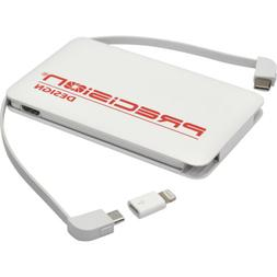 Precision Design 5000mAh Lightning Type-C Micro USB Power Ba