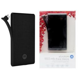 Motorola 5100mAh Power Bank Charger Pack USB Slim Portable E
