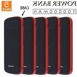 5PCS  NEW 10000mah Fast Charging Power Bank/Portable Charger