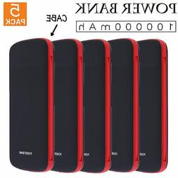 5PCS Portable  10000mah Fast Charging  Power Bank Charger wi