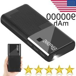 900000mAh Portable Charger 3 USB Power Bank Cell Phone Acces