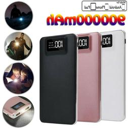 900000mah Portable Power Bank LCD LED 2 USB Battery Charger