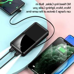 900000mah Portable Power Bank LCD LED Dual USB Battery Charg