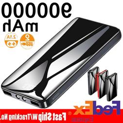 900000mAh Portable Power Bank LED Dual USB Battery Charger F