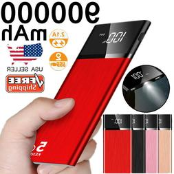 900000mAh Ultra-thin Portable External Battery Huge Capacity