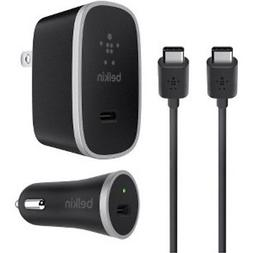 BELKIN WALL+CAR CHARGER KIT USB-C Tyep 15W 3 in 1 5W For S8+