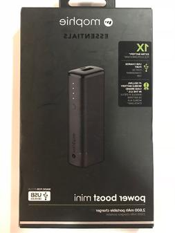 Mophie Power Boost Mini 2,600mAh Portable Battery Charger-Bl