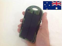 CAMO Portable 5000 mah USB Charger with Solar Panel iphone a