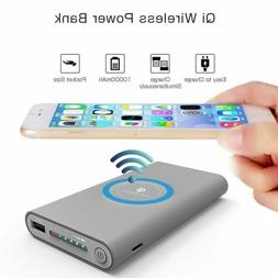 DIY 500000mAh Power Bank 2 in 1 Wireless Charger Case Portab