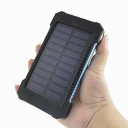 Dual USB 50000mAh Solar Power Bank External LED Battery Port