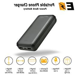 Dual USB Portable Charger 20000mAh Power Bank External Batte