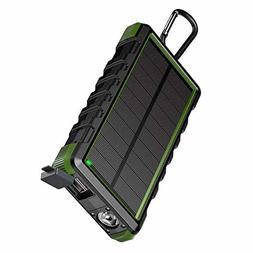 EasyAcc 24000mAh Solar Power Bank Rugged Waterproof Portable