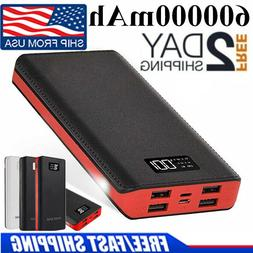 Fast Charging 600000mAh4USB Outdoor Portable Power Bank Exte