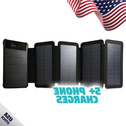 Folding 4 Panel 10,000mAh Portable Solar Power Bank