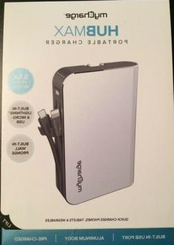 MyCharge HubMax Portable Charger 10,050 mAh with Built-In Wa