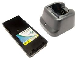 Icom IC-A24E Battery and Charger - Replacement for Icom BP-2