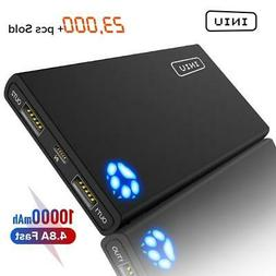 INIU 10000mAh 4.8A Power Bank Dual 2 USB Portable Charger Po