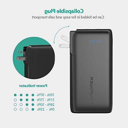 Portable Charger 2-in-1 Wall Charger Power Bank, 10000mAh Capacity with iSmart 3.4A iPhone iPhone X, iPad, Samsung More