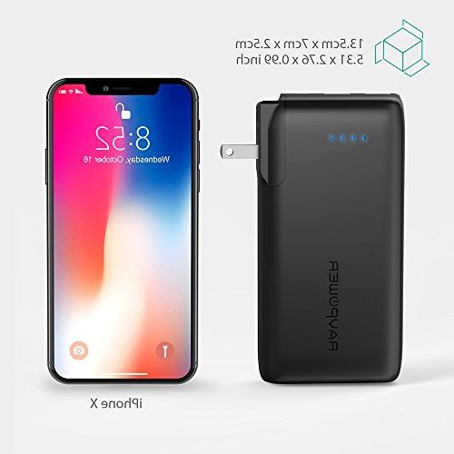 Portable Charger 2-in-1 Power Bank, with AC iSmart 2.0 USB Ports, 3.4A Output for iPhone iPad, More