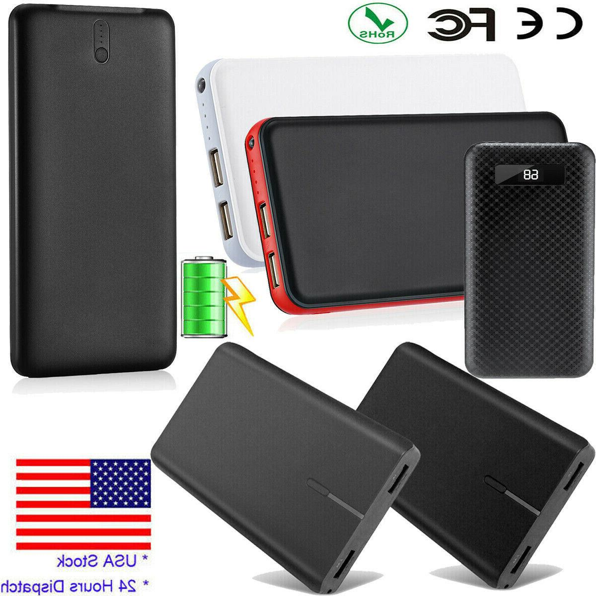 10000/20000/50000mAh Power Bank Dual USB External Battery Po